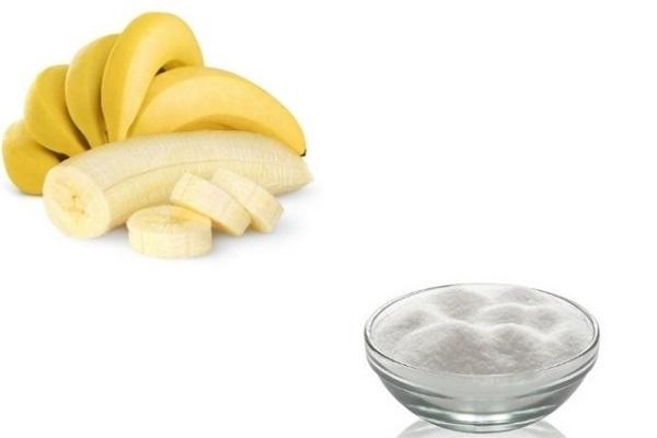 Tẩy tế bào chết bằng đường trắng và chuối