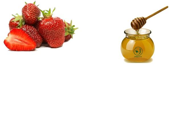 Dâu tây và mật ong