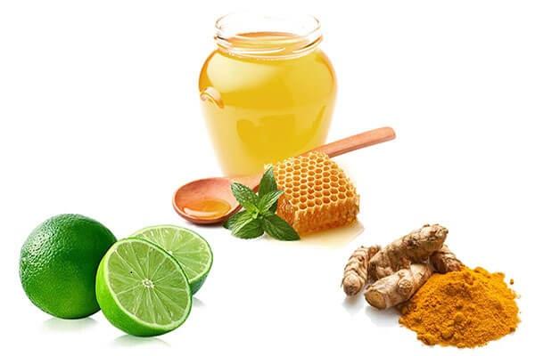 Mặt nạ tinh bột nghệ mật ong với chanh