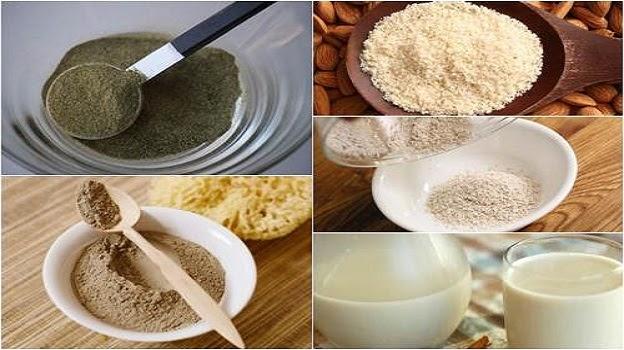 Lựa chọn nguyên liệu tảo biển, bột gừng, bột đất sét làm mặt nạ