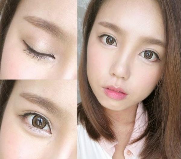 Tạo bọng mắt bằng cách Makeup không kẻ viền dưới