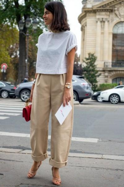 Quần Baggy và áo croptop đem đến sự phá cách, sáng tạo cho người mặc