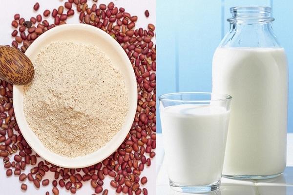Tắm trắng bằng bột đậu đỏ và sữa tươi