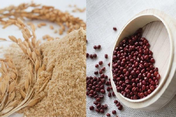 Tắm trắng bằng bột đậu đỏ và cám gạo