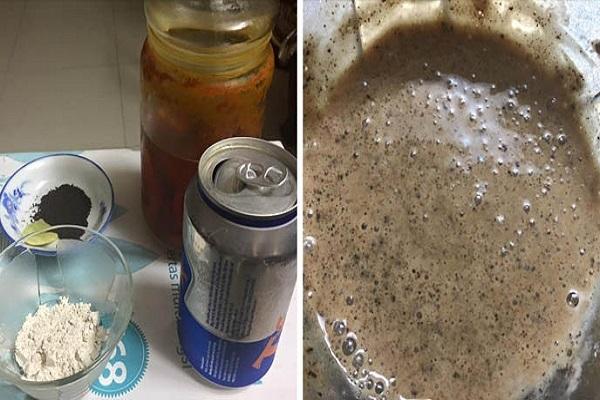Tắm trắng bằng bột đậu đỏ với bia