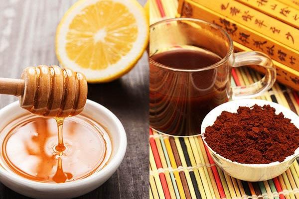 tắm ttrawngs da bằng cà phê và mật ong