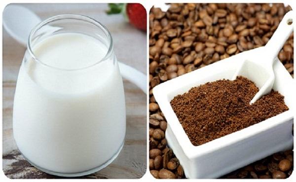 tắm trắng bằng cà phê và sữa chua