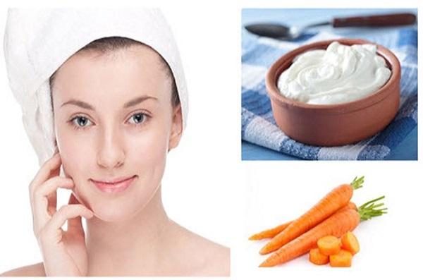 Tắm trắng bằng sữa chua và cà rốt