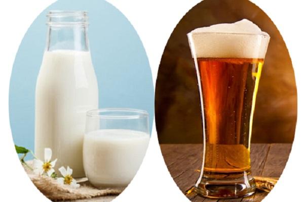 Tắm trắng bằng sữa tươi không đường và bia