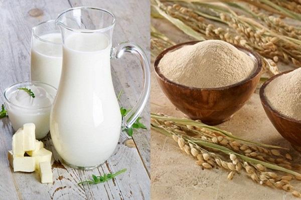 Tắm trắng bằng sữa tươi không đường và cám gạo
