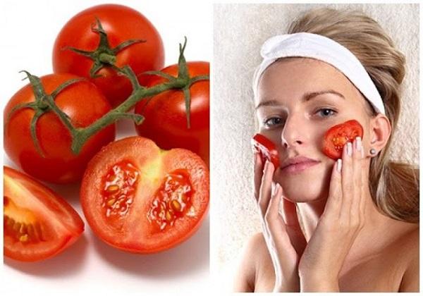 Tắm trắng da mặt bằng cà chua