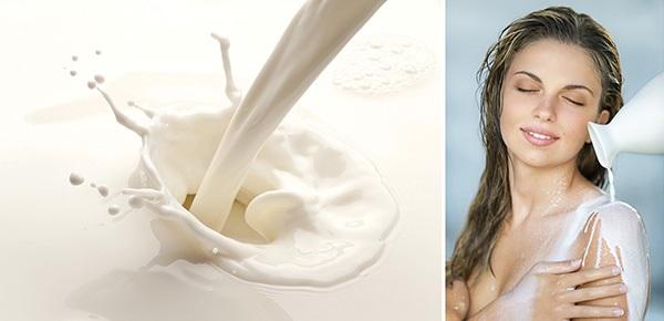 Tắm trắng bằng sữa tươi tại nhà