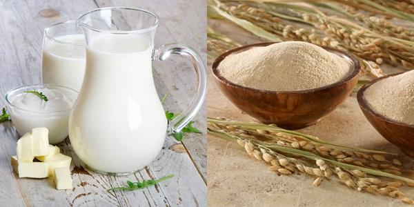 tắm trắng tại nahf bằng sữa tươi và cám gạo