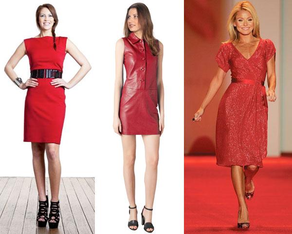 Giày đen với đầm đỏ khi mix với nhau sẽ làm tăng thêm độ quyến rũ của bạn