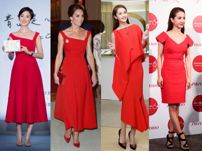Mặc đầm đỏ luôn giúp bạn nổi bật trong các buổi tiệc