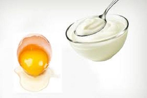Mặt nạ lòng đỏ trứng gà và sữa chua