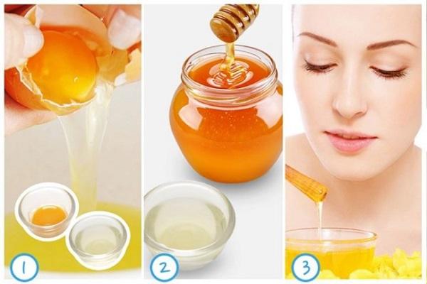 Chăm sóc da với mật ong và trứng gà
