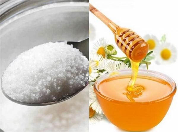 Đường và mật ong giúp tẩy da chết hiệu quả