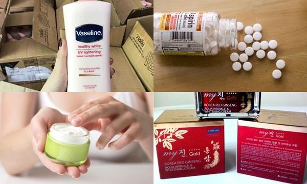 Công thức kem trộn Vaseline với Aspirin, kem sâm