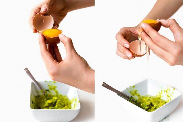Đắp mặt nạ bơ trứng gà