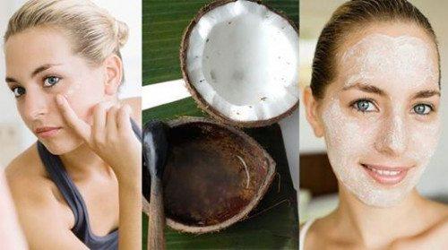 Làm sạch, tẩy tế bào chết bằng dầu dừa hoặc đường nâu, cám gạo sữa chua…