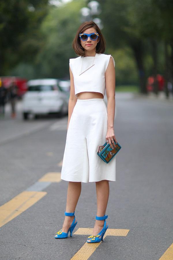 Mix quần ống giống với giày cao gót
