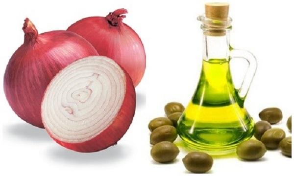 Hành tây ngâm dầu oliu giúp làm mờ sẹo