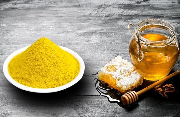 Mặt nạ trị thâm mật ong, chanh, tinh bột nghệ