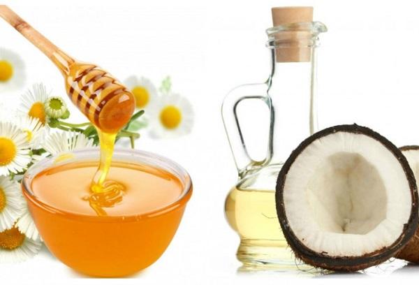 Trị thâm môi bằng dầu dừa và mật ong