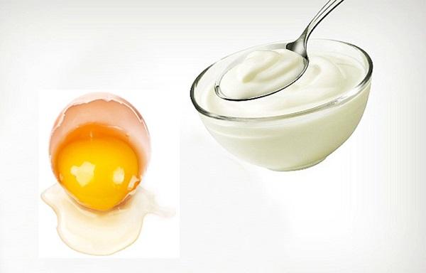 Mặt nạ sữa chua và trứng gà chống lão hóa
