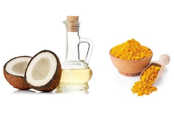 Mặt nạ tinh bột nghệ kết hợp dầu dừa