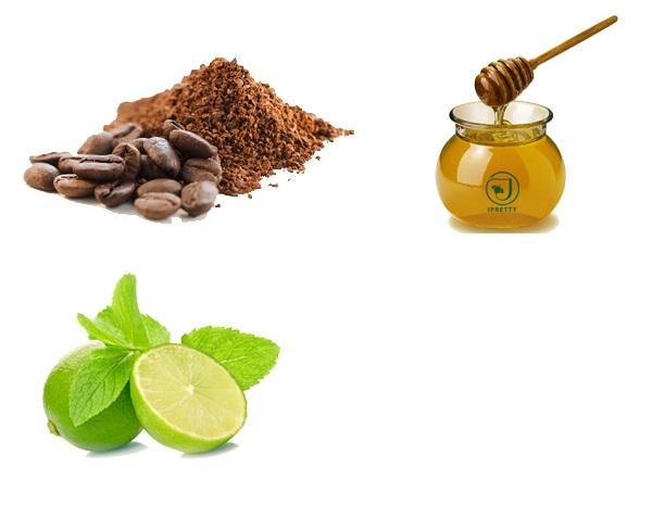 Tẩy da chết bằng cà phê và mật ong, chanh