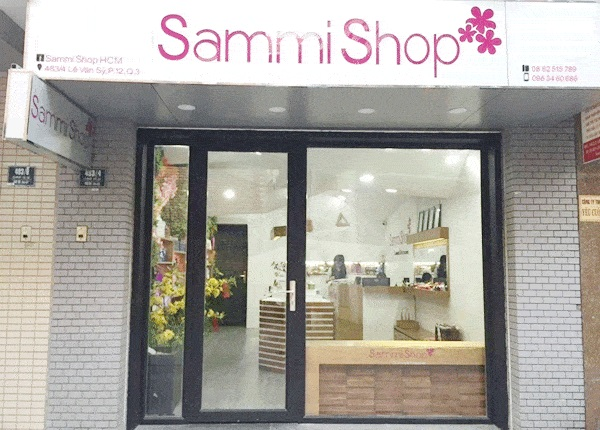 Có nhiều cơ sở son Sammi Shop, rất tiện lợi để đi đến mua nhé các chị em