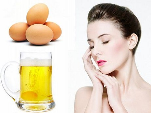 Làm trắng toàn thân bằng bia và trứng gà