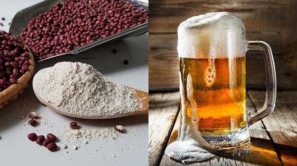 Tắm trắng bằng bia và bột đậu đỏ
