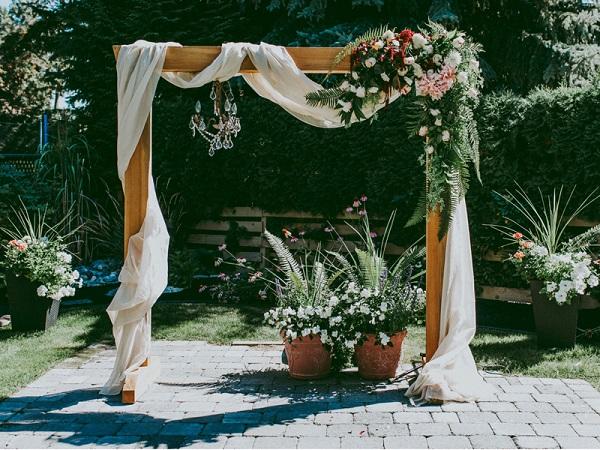 Cổng đám cưới từ chất liệu tre, nứa