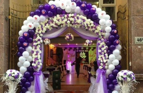 Cổng rạp cưới đẹp bằng bong bóng