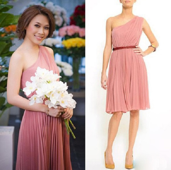 Đi đám cưới nên mặc váy màu hồng tím nhạt