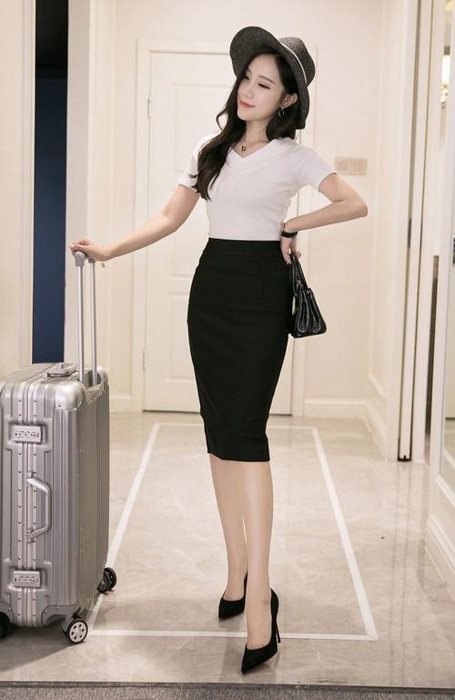 Chân váy bút chì cho phụ nữ tuổi 30
