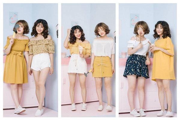 Những mẫu thời trang bánh bèo tại Nana