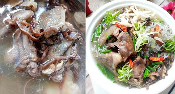Miến nấu chim bồ câu