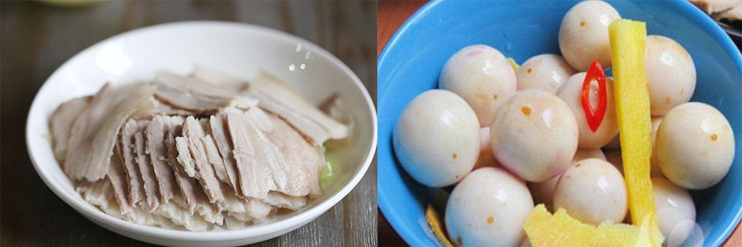 Thực đơn: Thịt luộc, cà muối