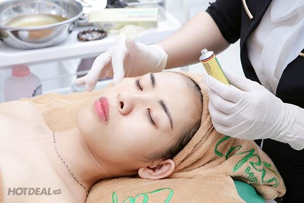 Da sạch mụn sau khi điều trị tại Spa Lapia Beauty